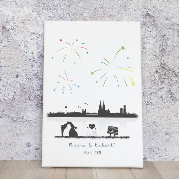 Fingerabdruckbild - Skyline