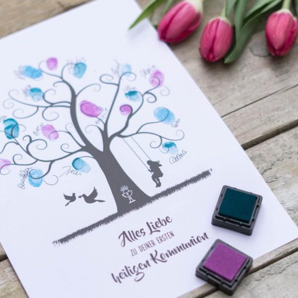 Kommunion Fingerabdruckbaum Mädchen PDF