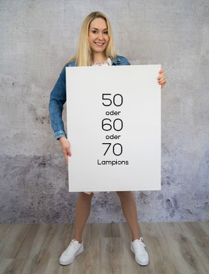 Fingerabdruck Leinwand Lampions 50 oder 60 oder 70 Gäste